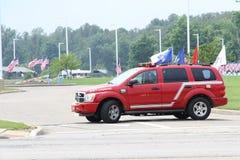消防队SUV 库存图片