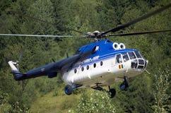 消防直升机 免版税库存照片