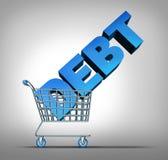 消费者债务利息 库存例证