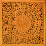涉及泰国墙纸木头 库存照片