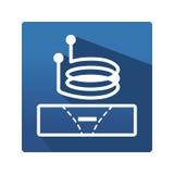 涡流图表 免版税图库摄影