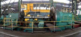 水涡轮制造  巨大的机器涡轮producti 免版税库存照片