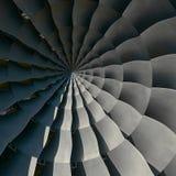 涡轮叶片飞过螺旋作用摘要分数维样式背景螺旋工业生产金属涡轮背景Tu 免版税库存照片