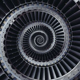 涡轮叶片飞过螺旋作用摘要分数维样式  免版税图库摄影