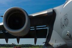 涡轮喷气引擎普拉特&惠特尼F117-PW-100 免版税库存照片