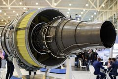 涡轮喷气引擎生产乌克兰 免版税库存图片