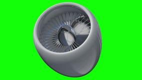 涡轮喷气机引擎英尺长度 皇族释放例证