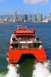 涡轮喷气水翼艇小船 图库摄影