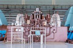 涡轮在核电站中 免版税库存照片