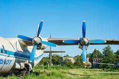 涡轮螺旋桨发动机老苏联航空器安-12涡轮  库存照片