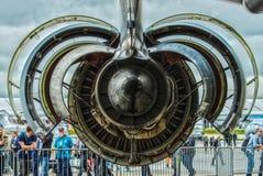 涡轮风扇引擎通用电器公司CF6-80C2 免版税库存照片