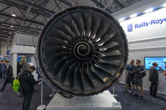 涡轮风扇飞机引擎罗斯劳艾氏特伦特XWB 免版税库存图片