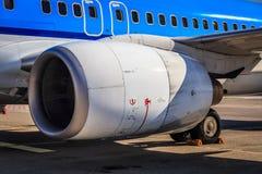 涡轮风扇飞机引擎 免版税库存图片