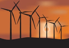 涡轮风车 图库摄影