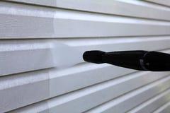 洗涤乙烯基房屋板壁 免版税图库摄影