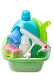 洗涤剂和清洁产品 免版税库存图片