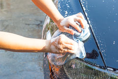洗涤汽车 图库摄影