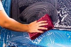 洗涤汽车 免版税库存照片