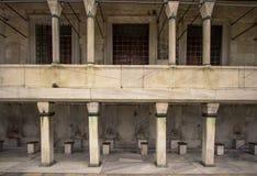 洗涤的地方在蓝色清真寺伊斯坦布尔 图库摄影