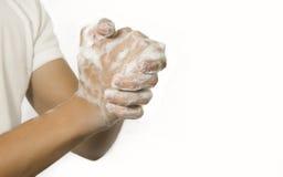 洗涤的手 免版税库存照片