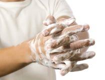 洗涤的手 库存图片