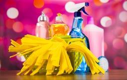 洗涤,清洗的材料,五颜六色的概念 库存照片