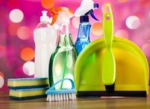 洗涤,清洗的材料,五颜六色的概念 图库摄影