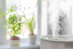 润湿器传播的蒸汽 库存照片