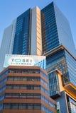 涩谷区的摩天大楼在东京,日本 库存照片