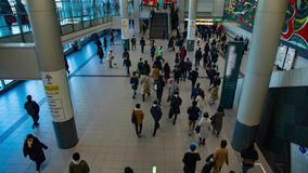 涩谷驻地的走的人在东京timelapse 股票视频