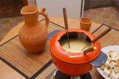 涮制菜肴 图库摄影