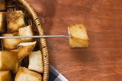 涮制菜肴的薄脆饼干 免版税库存照片