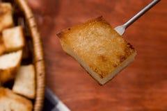 涮制菜肴的薄脆饼干 免版税图库摄影