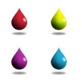 4液体下落 向量例证