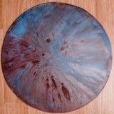 液体丙烯酸酯的颜色抽象外籍人行星  免版税库存照片