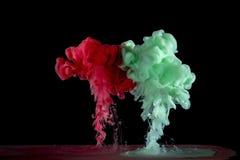 液体墨水是混杂的 库存图片