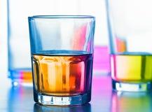 液体抽象的玻璃 免版税库存照片