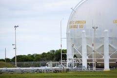 液体氢储存箱 免版税库存图片