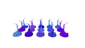 液体油漆飞溅在音乐报告人的 3d在4k的动画 12 股票视频