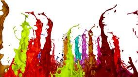 液体油漆飞溅在音乐报告人的 3d在4k的动画 6 股票录像