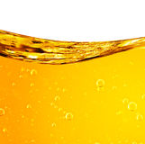 液体流动黄色 库存图片