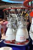 液体火箭发动机RD-171模型在国际Aviati的 库存照片