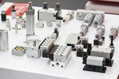 液体的,油,空气,气动力学,九头蛇工业电磁阀 库存图片