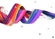 液体设计刷子螺旋 向量背景 EPS10 图库摄影