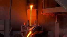 液体金属在铸造厂 股票视频