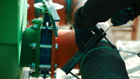 钻液循环系统的设施 影视素材