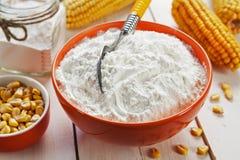 淀粉和玉米棒子 免版税库存照片