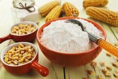 淀粉和玉米棒子 图库摄影