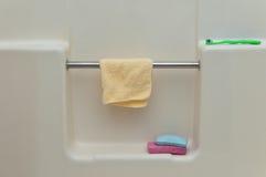淋浴间墙壁 库存照片