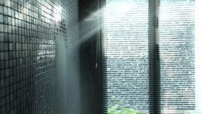 从淋浴喷头的水 影视素材